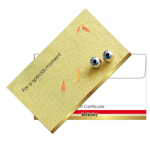 berkeley beauty company matching envelope for gift certificate